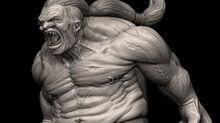 R169 457x256 2786 Screaming Giant 3d fantasy monster picture image digital art