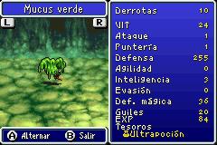 Estadisticas Mucus Verde