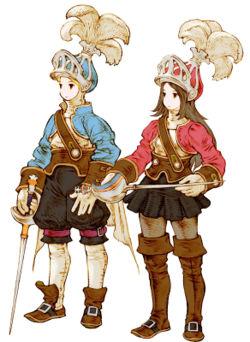 El Caballero Cebolla masculino y femenino