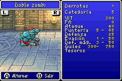 Estadisticas Doble Zombi II