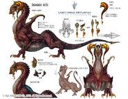 Artwork Dragon rojo