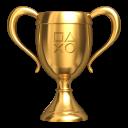 Archivo:PlayStation Network - Trofeo de oro.png