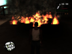 Carl frente al fuego