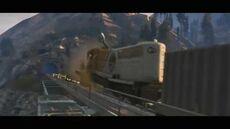 Trenes colisionando