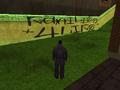 Graffiti en el cementerio