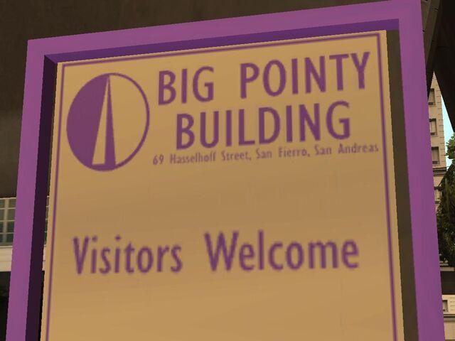 Archivo:Big Pointy Building cartel.jpg