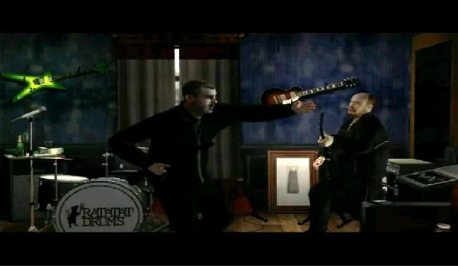 Ray tocando musica
