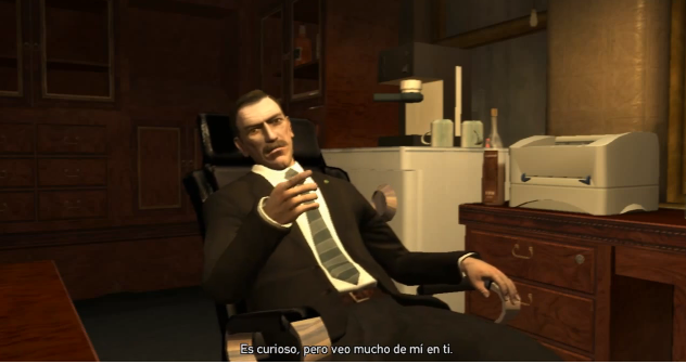 Archivo:GTAIV-Mision-Holland Nights-FrancishablandoconNikolaiBellic.png