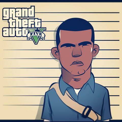 Archivo:GTA V Fan Art - Franklin Clinton sketch.png
