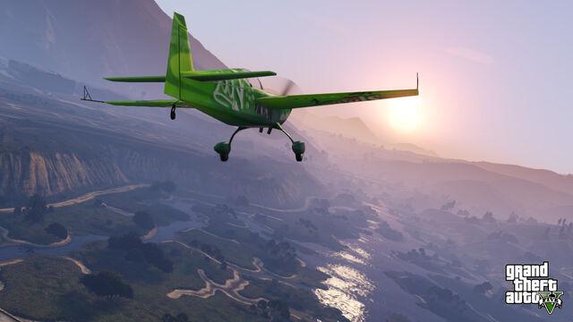 Archivo:Avion sobrevolando Blaine county.jpg