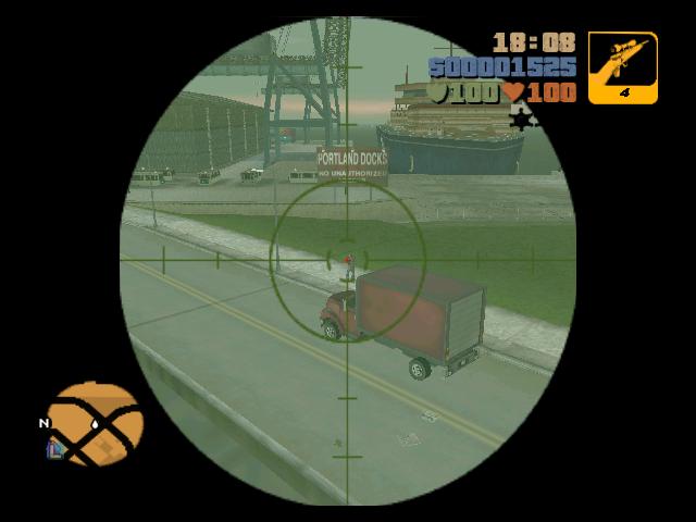 Archivo:GTA 3 Primera Persona Francotirador.PNG