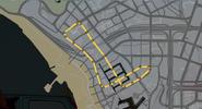 Trayecto carrera Canales de Vespucci