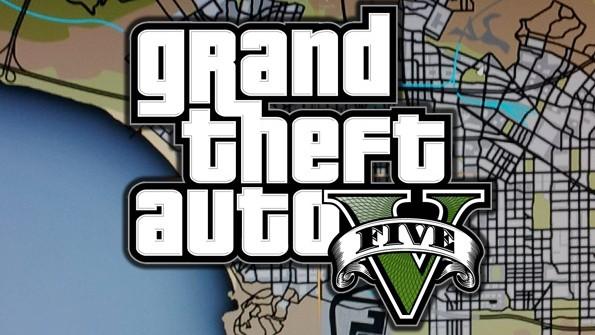 GTA V logo y mapa