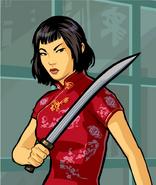 Artwork Ling Shan katana rojo