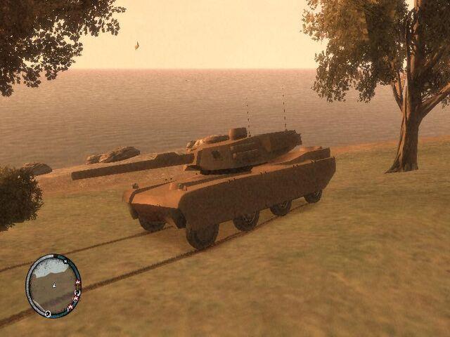 Archivo:GTA 4 TLAD Beta Rhino (1).jpg