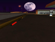 Playa de estacionamiento gasolinera The Strip