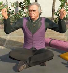 Dreyfuss meditando