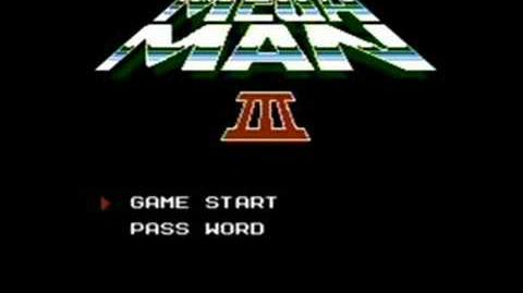 Mega Man 3 Title Screen