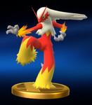 Trofeo de Blaziken SSB4 Wii U