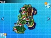 Localización de la ruta 5 en Alola