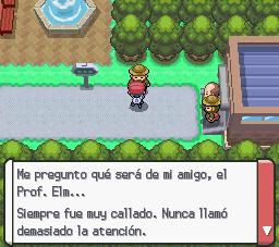 Mención de profesor Elm en Pokemon Platino.png