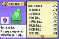 Pokemon esmeralda esp MasterBall