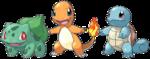 Pokémon iniciales de Kanto