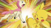 EP672 Deerling vs Pikachu.jpg