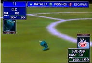 Caterpie visto en pokemon stadium para nintendo 64