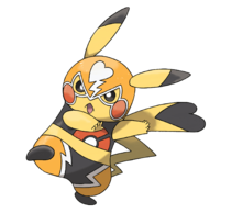 Pikachu enmascarada