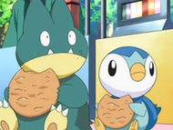 EP546 Munchlax y Piplup comiendo