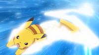 EP658 Pikachu usando ataque rápido