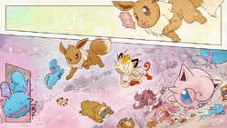 Eevee & Jigglypuff luchando