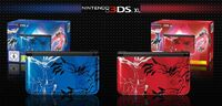 Nintendo 3DS XL XY roja y azul