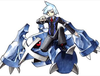 """Steven junto a su <a href=""""/wiki/Metagross"""" title=""""Metagross"""">Metagross</a>"""