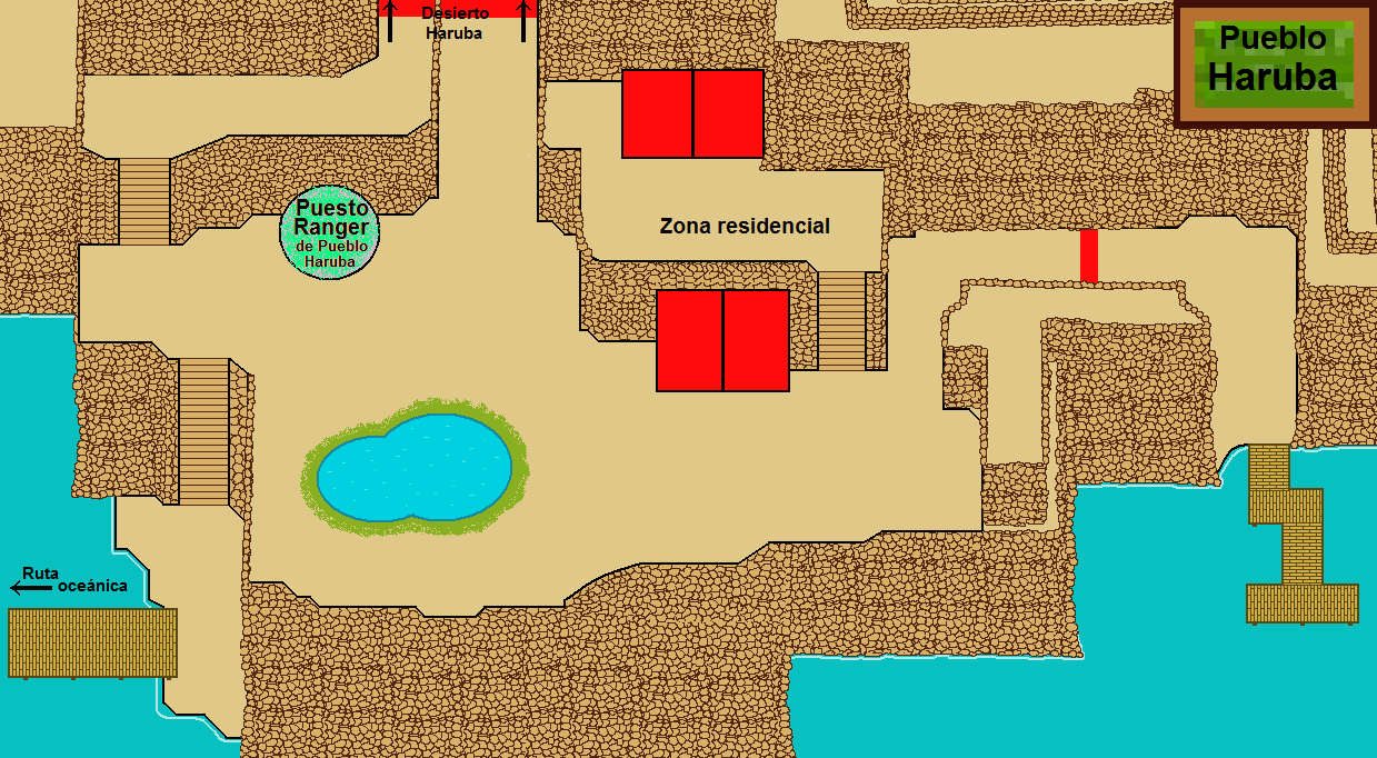 Plano de Pueblo Haruba.