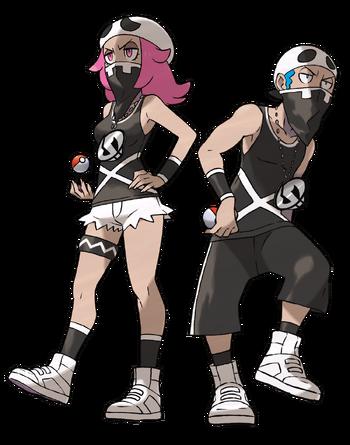 Ilustración de los reclutas del Team Skull en Pokémon Sol y Pokémon Luna