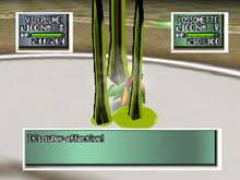 Vileplume usando ácido en Pokémon Stadium 2