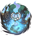 Artwork de Chandelure quemando un alma