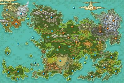 Mundo Misterioso mapa