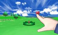 Protagonista masculino lanzando una pokeball