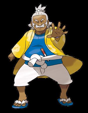 """Ilustración de Kaudan en <a href=""""/wiki/Pok%C3%A9mon_Sol_y_Luna"""" title=""""Pokémon Sol y Luna"""" class=""""mw-redirect"""">Pokémon Sol y Luna</a>"""