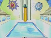 Campo de batalla del Gimnasio de Ciudad Celeste en el anime