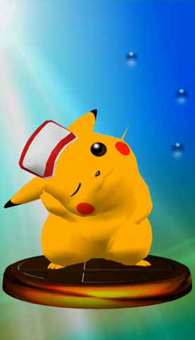 Archivo:Trofeo Pikachu (Smash 2) SSBM.png