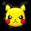 Pikachu enfadado