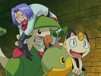 Archivo:EP529 James sobre Breloom y Meowth sobre Turtwig.png