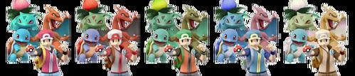 Paleta de colores de Entrenador Pokémon SSBB