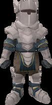 Tiny White Knight pet