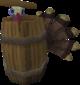 Pavo en un barril