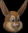 Conejo de pascuas cara